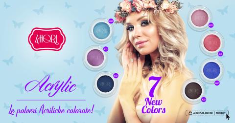 Nuova collezione Polveri Acriliche Colorate per Unghie Zhori - Colori Acrilici - Primavera / Estate 2018