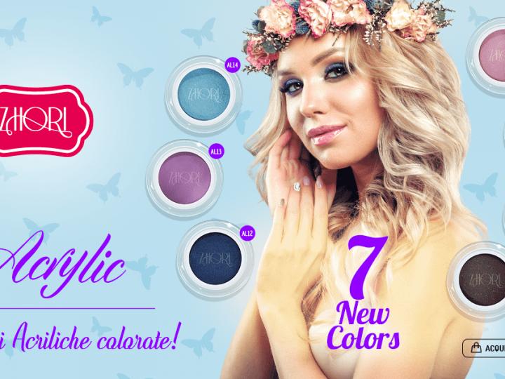 Nuova collezione Polveri Acriliche Colorate Zhori, Primavera – Estate 18