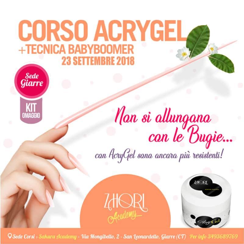 Corso Acrylic Babyboomer Giarre — Zhori.it